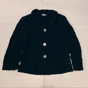Habitat Black Button Jacket